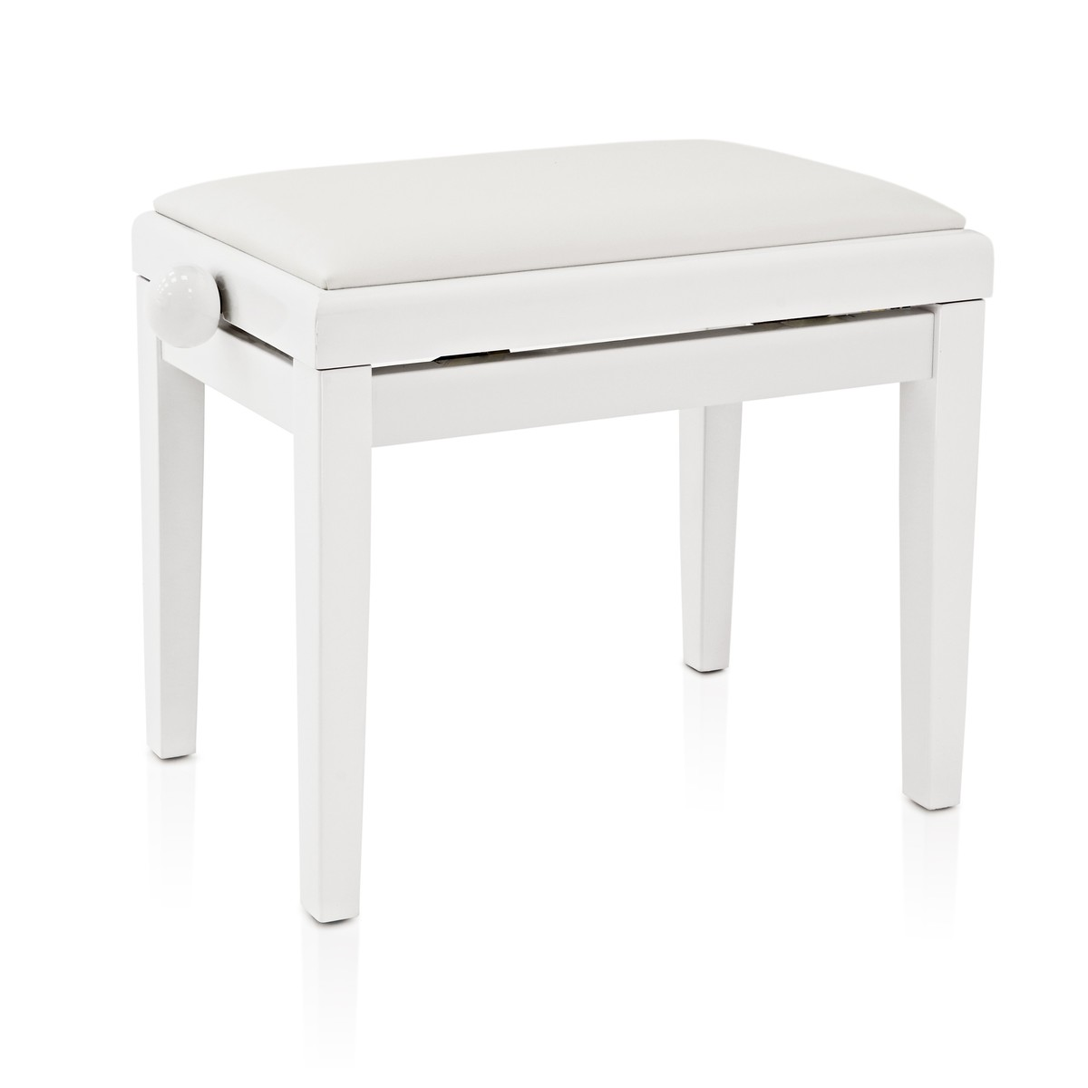 tabouret de piano r glable par gear4music blanc gear4music. Black Bedroom Furniture Sets. Home Design Ideas