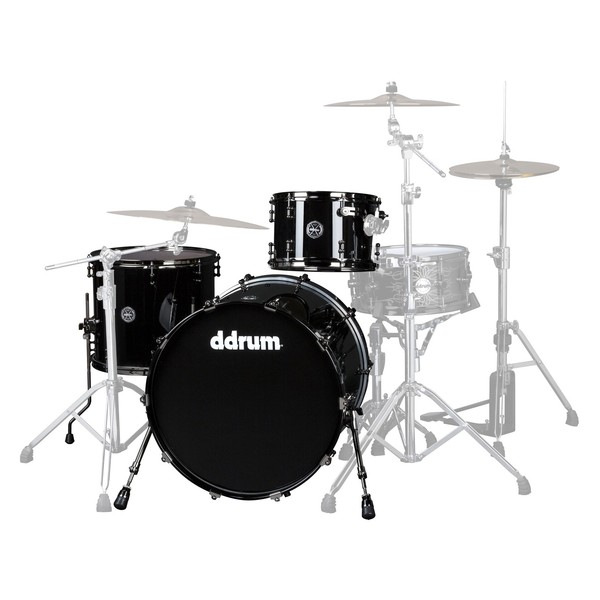 "DDrum Max Series 3pc 22"" Shell Pack, Piano Black"