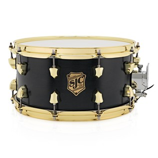 SJC Drums Tour Series 14x7 Snare Drum, Black Satin Stain Brass HW