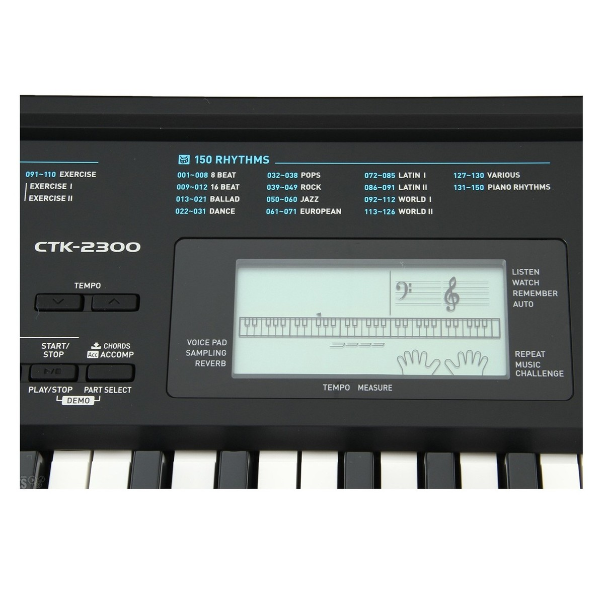 e7d7e36dcf8 Casio CTK-2300 Portable Keyboard, Black at Gear4music