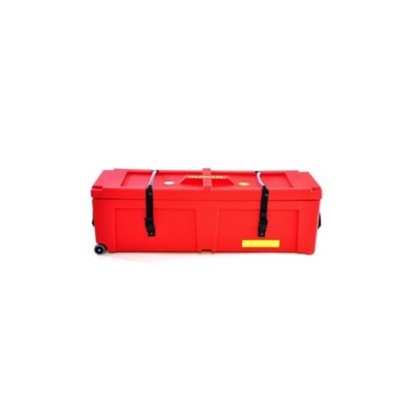 "Hardcase 48"" Hardware Case with Wheels, Red"