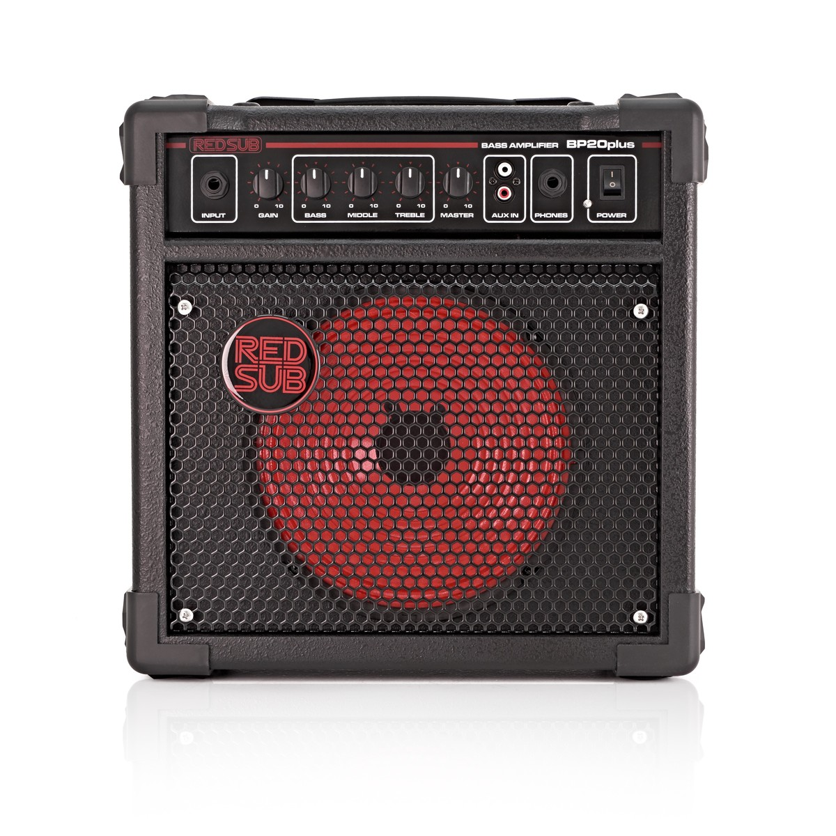 redsub bp20plus 20w bass guitar amplifier b stock at gear4music. Black Bedroom Furniture Sets. Home Design Ideas