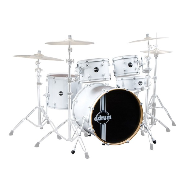 "DDrum Reflex 5pc 22"" Shell Pack, White On White"