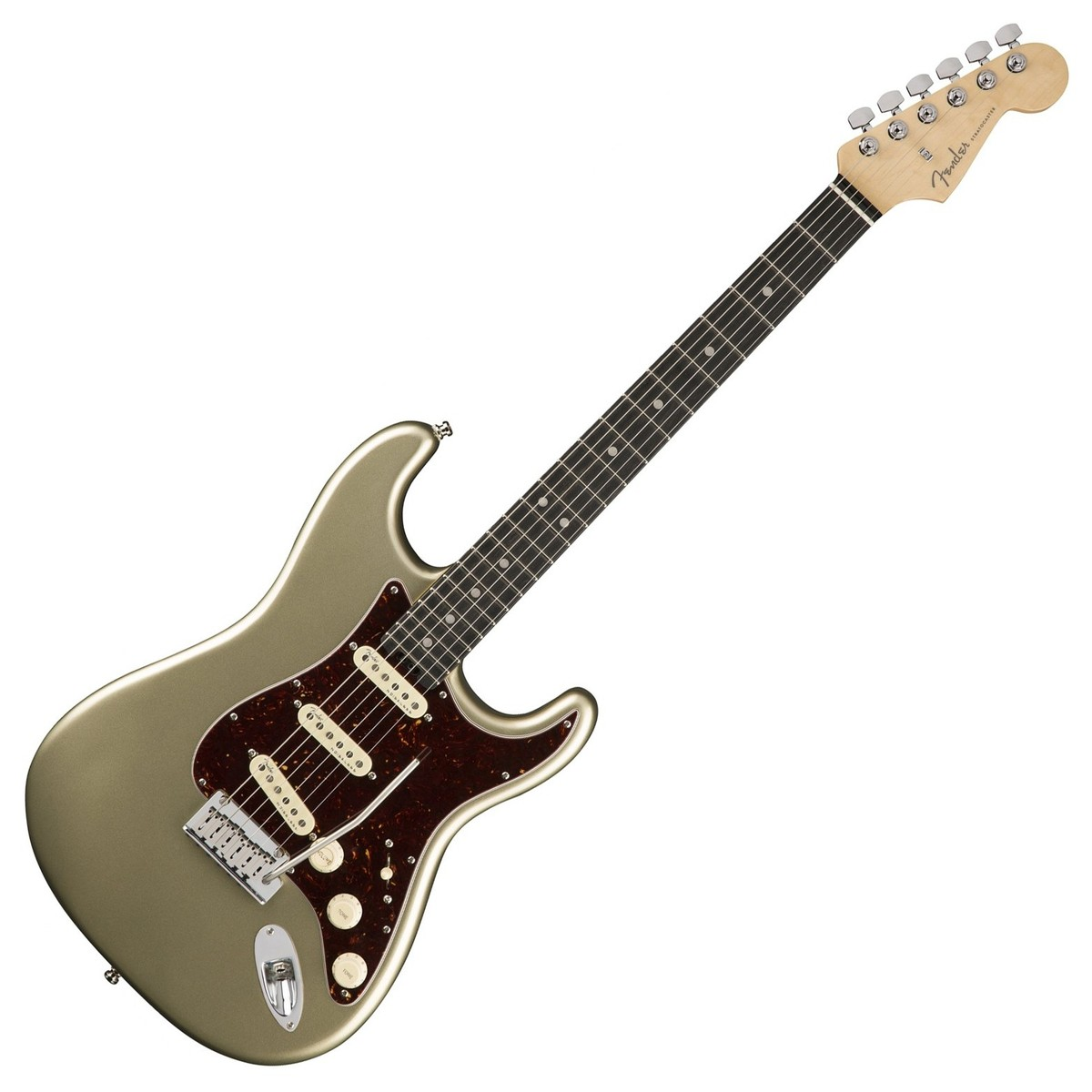 bf6932d636 Fender American Elite Stratocaster Ebony, Champagne at Gear4music