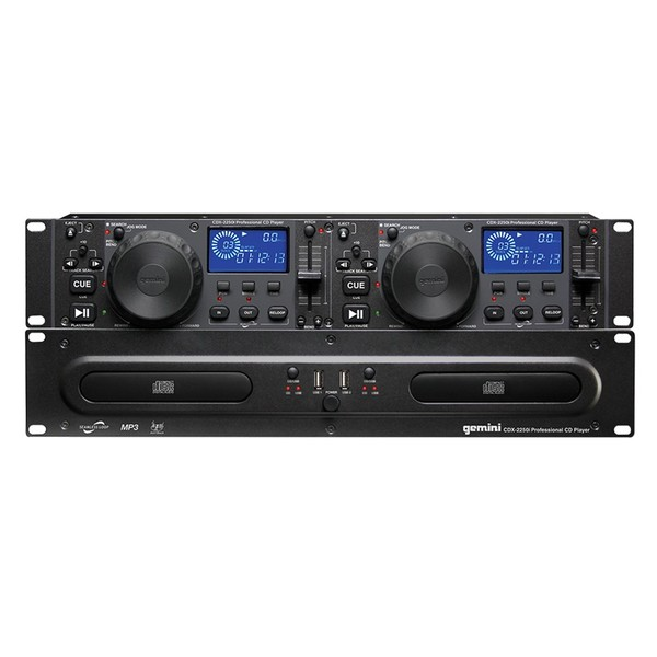 gemini cdx 2250i rackmount dual cd player with usb at gear4music. Black Bedroom Furniture Sets. Home Design Ideas