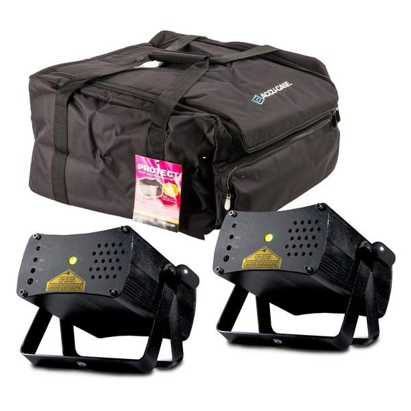 ADJ Micro Galaxian II Pair with free Bag