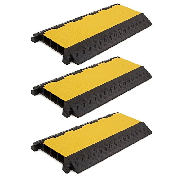 3 Channel Cable Protector Bridges by Gear4music, Pack of 3