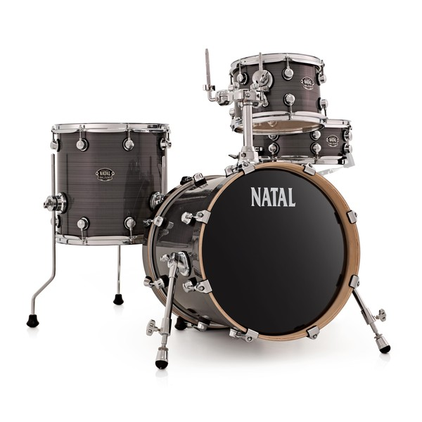 Natal Arcadia 4pc 16'' Compact Shell Pack, Grey Strata