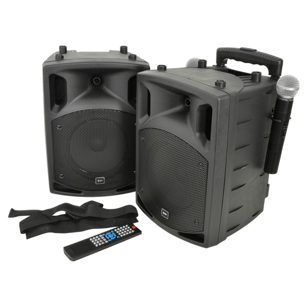QTX PAV8 8'' Portable PA Set With Wireless Microphones