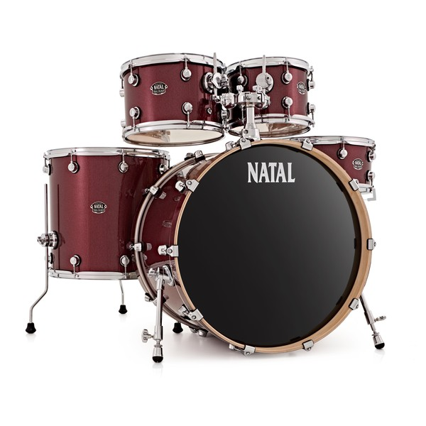 """Natal Arcadia 5pc 22"""" Shell Pack, Red Sparkle"""
