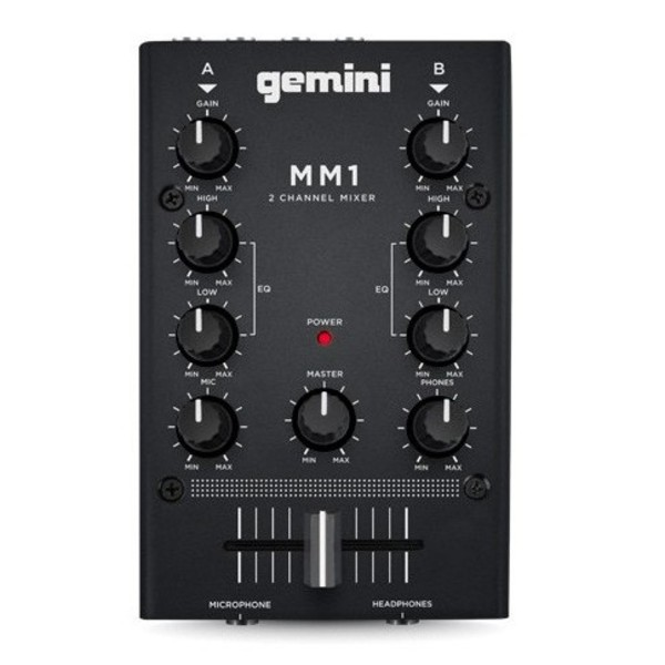 Gemini MM1 Two-Channel Compact Mixer 1