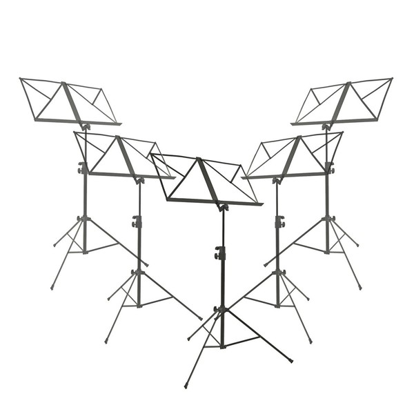 Music Stand by Gear4music, Pack of 5