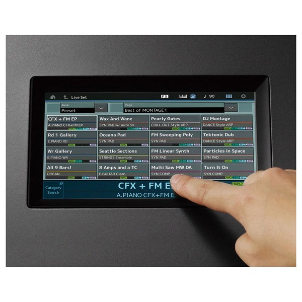 Yamaha MONTAGE 8 Synthesizer - Screen
