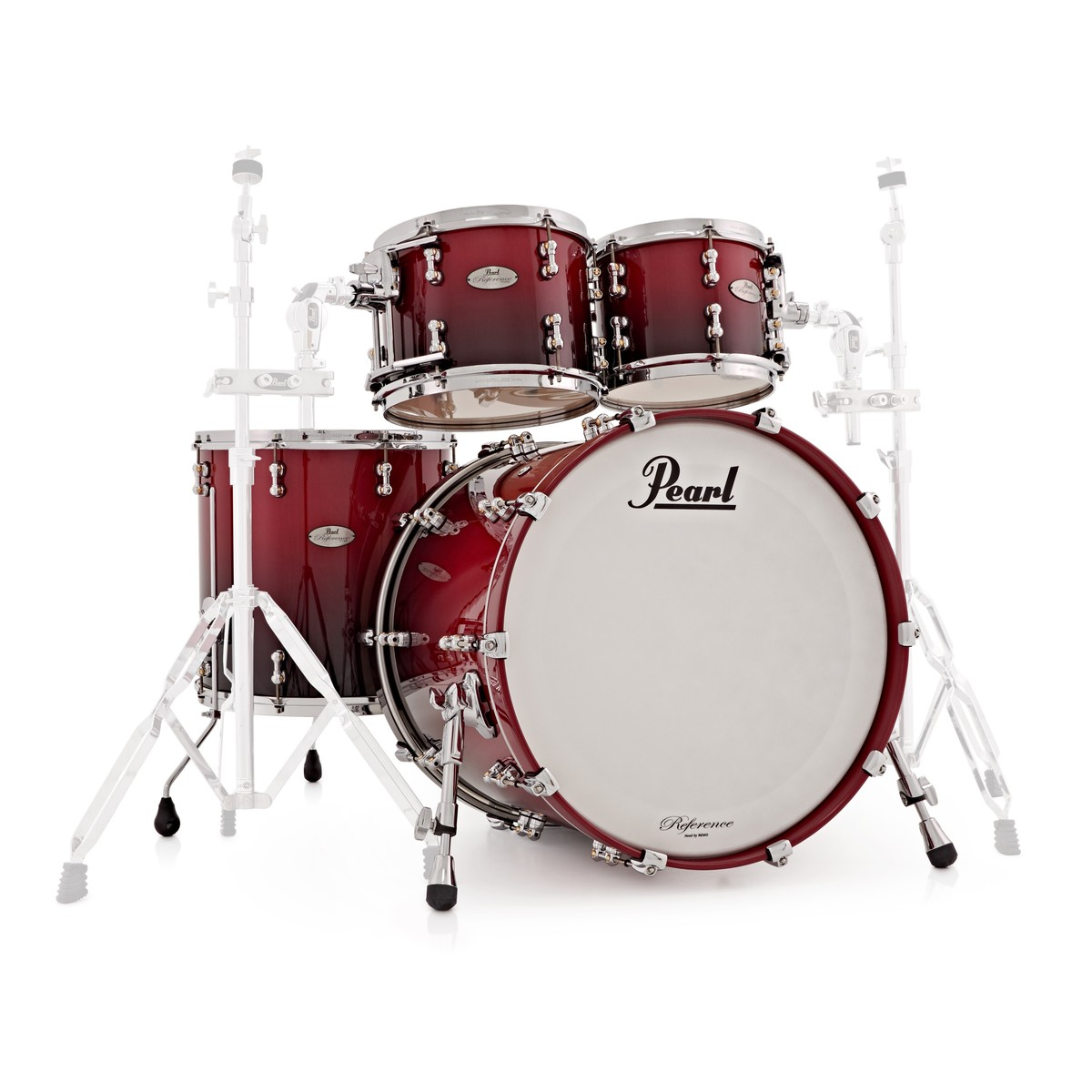pearl reference pure 22 39 39 4pc shell pack scarlet fade 500391 at gear4music. Black Bedroom Furniture Sets. Home Design Ideas