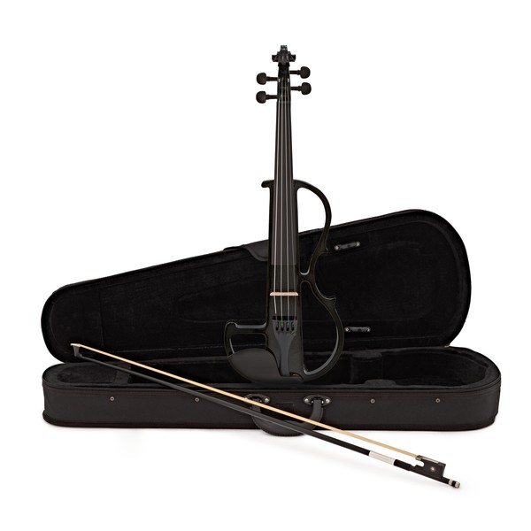 4/4 Size Electric Violin by Gear4music, Black