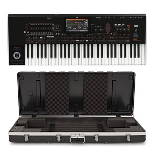 Korg pa4X-61 Keyboard with Gear4music ABS Case - Bundle
