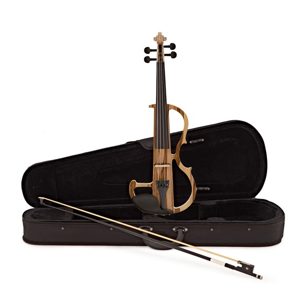 4/4 Size Electric Violin by Gear4music, Natural