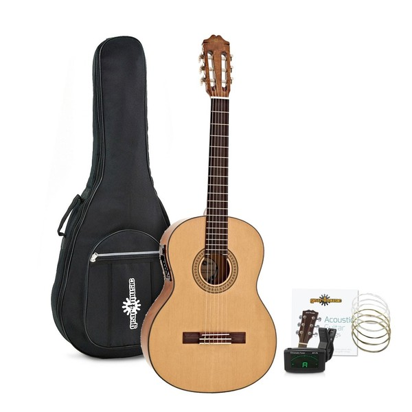 Deluxe Classical Electro Acoustic Guitar Pack by Gear4music