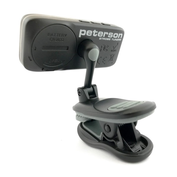 Peterson StroboClip HD, Clip On Strobe Tuner Back