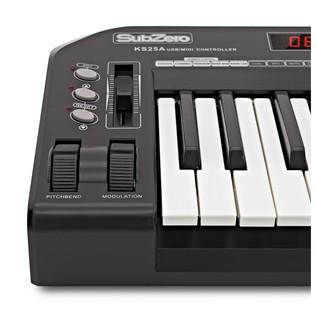 SubZero 25 Key Midi Controller Keyboard