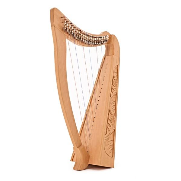 22 String Harp by Gear4music, Beech