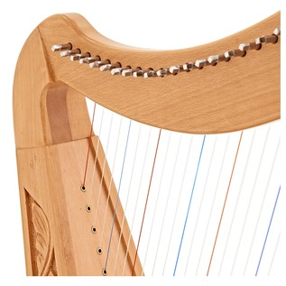 SAMPLE - 22 String Harp by Gear4music, Beech