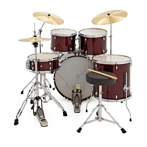 BDK-5 Drum Kit + Practice Pack, Wine Red