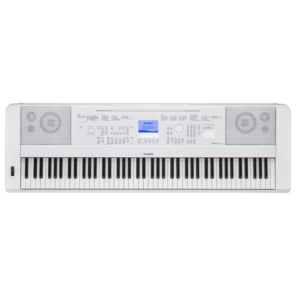 yamaha dgx 660 digital piano with stand white box opened at gear4music. Black Bedroom Furniture Sets. Home Design Ideas
