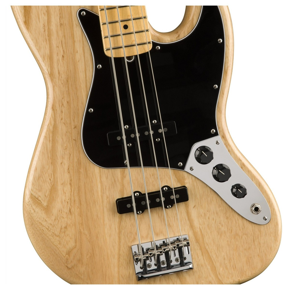 fender american professional jazz bass guitar mn natural at gear4music. Black Bedroom Furniture Sets. Home Design Ideas