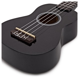 Stagg Soprano Ukulele & Bag, Night Black