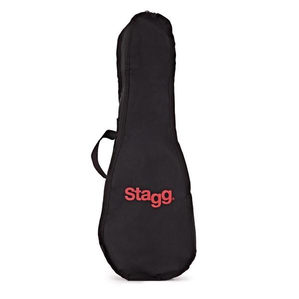 Stagg Soprano Ukulele & Bag, Night Black