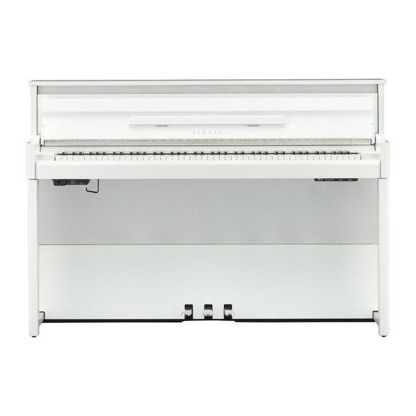 Yamaha NU1X Avantgrand Hybrid Digital Piano, White Front View