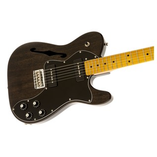 Fender Modern Player Telecaster Thinline Deluxe, Black Transparent Right
