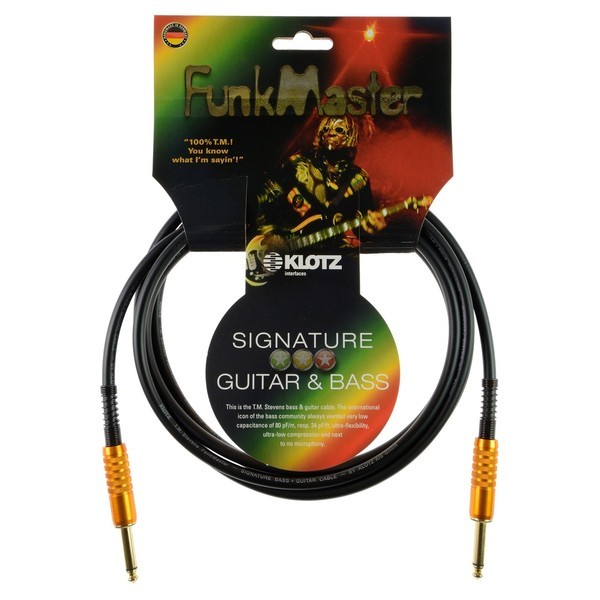 Klotz FunkMaster Guitar and Bass Cable, 3m
