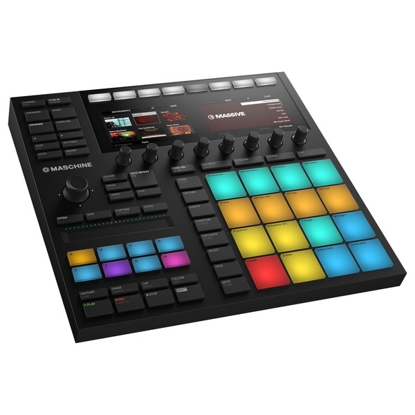 Native Instruments Maschine MK3, Black - Angled