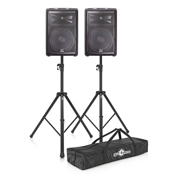 JBL JRX212 12'' Passive PA Speaker Bundle with Stands