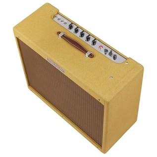 Fender '57 Custom Twin Amplifier, Lacquered Tweed side