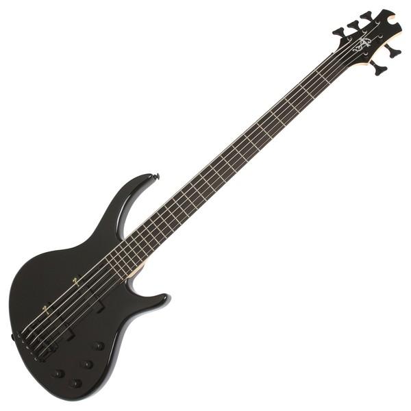 Epiphone Toby Deluxe V Bass Guitar, Ebony