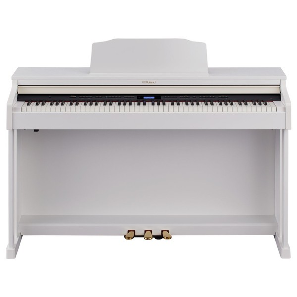 Roland HP601 Digital Piano, Contemporary White 1