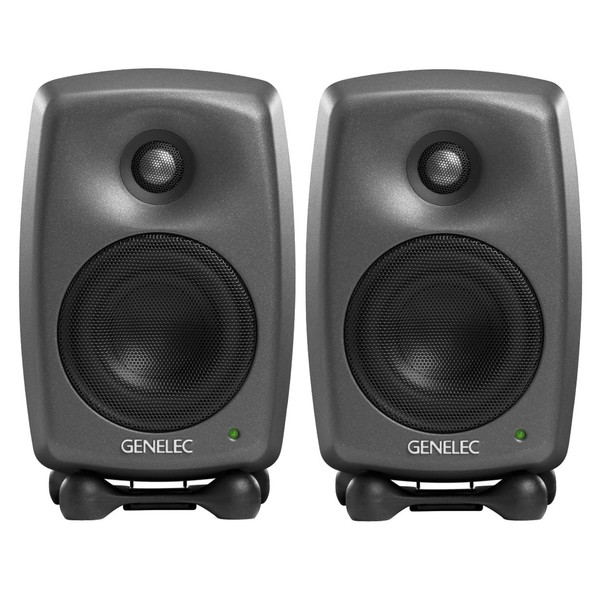 Genelec 8020D Studio Monitor, Grey (Pair)