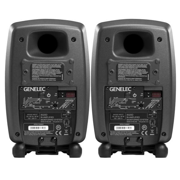 Genelec 8020D Studio Monitor, Grey (Pair) Back