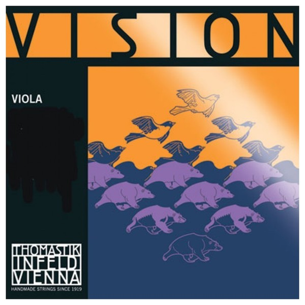 Thomastik Vision Viola G String, Synthetic Core Silver Wound 4/4
