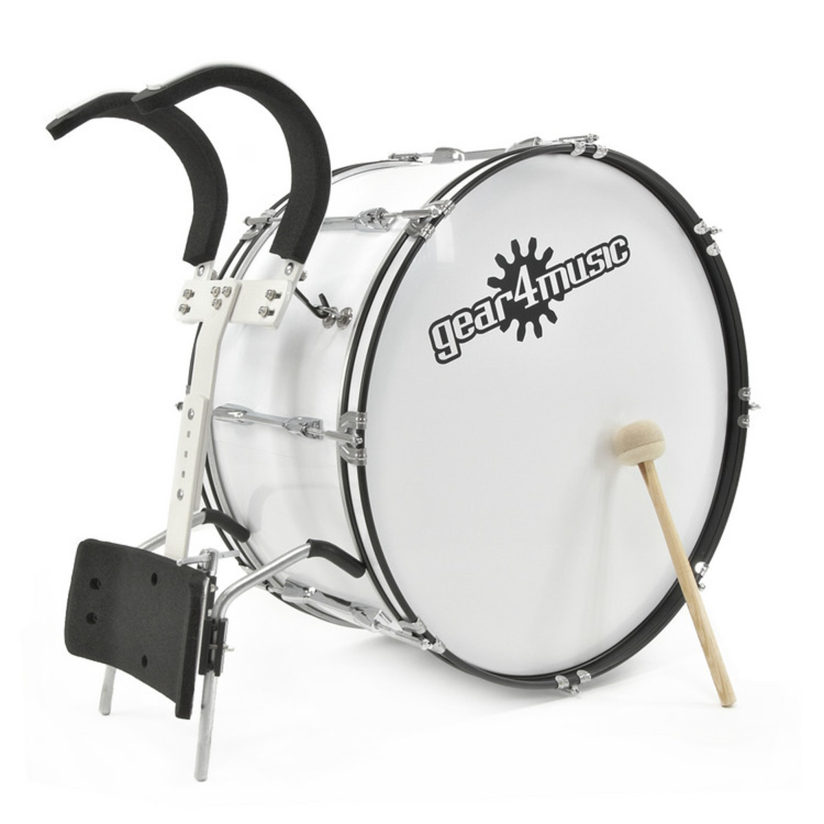 """24"""" X 12"""" Marching Bass Drum with Carrier by Gear4music - B-Stock"""