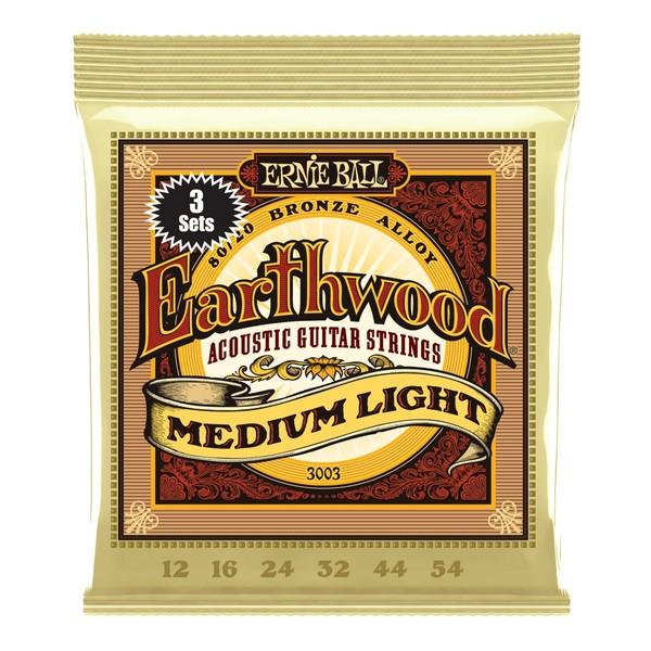 Ernie Ball Earthwood Medium - Light (3 Set Pack) 12-54