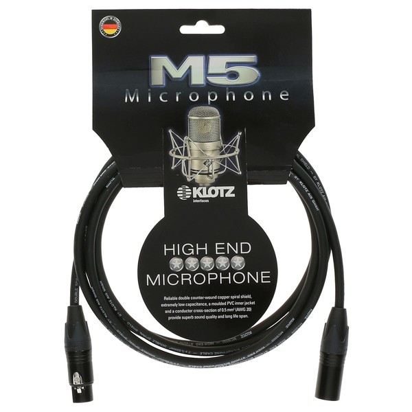 Klotz M5FM XLR Microphone Cable, 10m