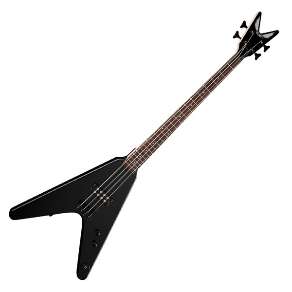 Dean Metalman V Bass Guitar, Classic Black - front