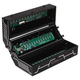 TipTop Audio Station 252HP Folding Case - Black Widow - Angled