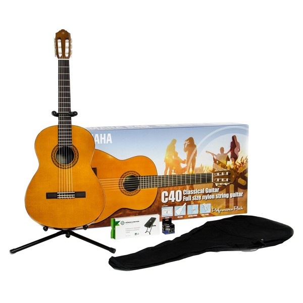 Yamaha C40II Classical Guitar Performance Pack, Natural