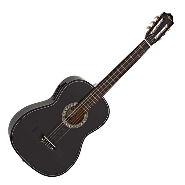 Classical Electro Acoustic Guitar, Black, by Gear4music