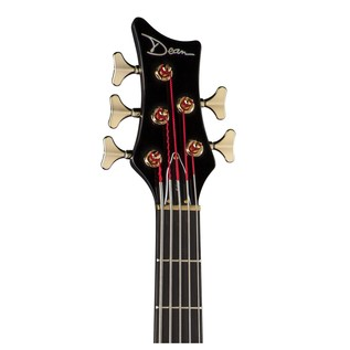Edge Pro 5-String Bass Guitar, Trans Black